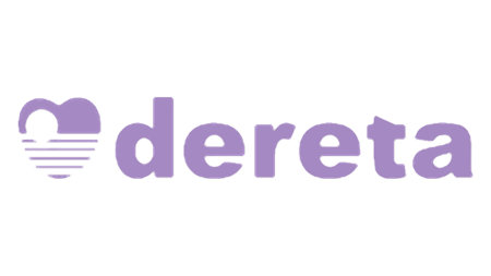 Dereta logo and link