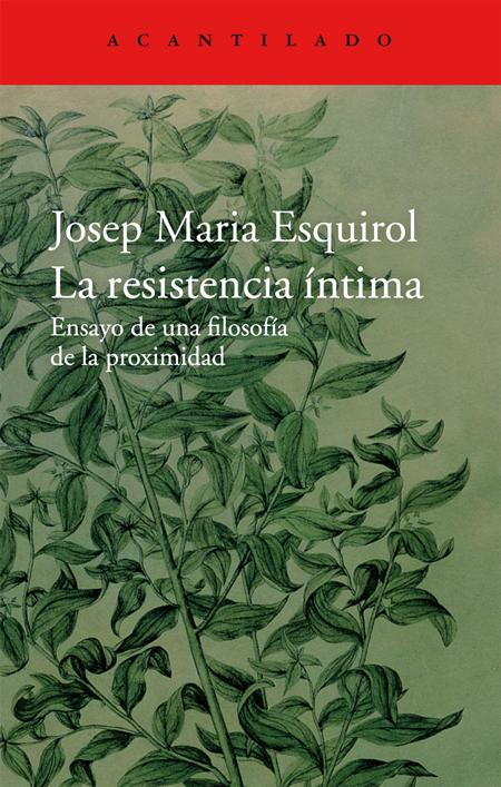 Cover of LA RESISTENCIA ÍNTIMA